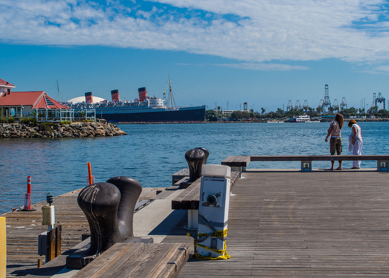 Long Beach: Harbor View with Queen Mary