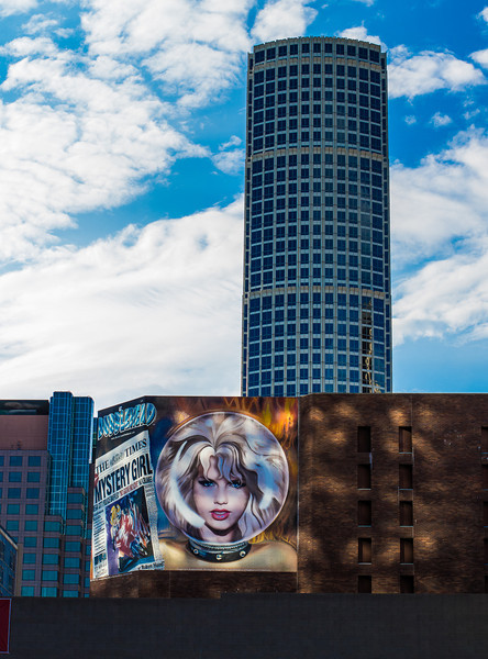 Downtown L.A.: Mystery Girl on Macy's building