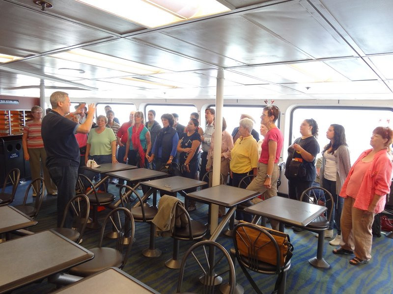 we got a request to sing on the ferry...