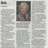 """Marlene Azar helps Reunited a lost bird with odd circumstances.""""One Bird Bite- Reunites lost bird 30 miles away."""