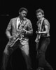 OAKLAND, CA-OCTOBER 28: Bruce Springsteen performs at the Oakland Coliseum Arena on October 27, 1980. (L-R): Clarence Clemons, Bruce Springsteen)  (Photo by Clayton Call/Redferns)