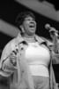 NEW ORLEANS, LA-MAY 1: Aretha Franklin performs at the New Orleans Jazz & Heritage Festival on May 1, 1994. (Photo by Clayton Call/Redferns)