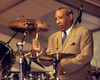NEW ORLEANS, LA-APRIL 23: Max Roach performs at the New Orleans Jazz & Heritage Festival on April 23, 1994. (Photo by Clayton Call/Redferns)
