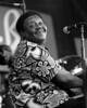 NEW ORLEANS, LA-APRIL 25: Fats Domino performs at the New Orleans Jazz & Heritage Festival on April 25, 1999. (Photo by Clayton Call/Redferns)