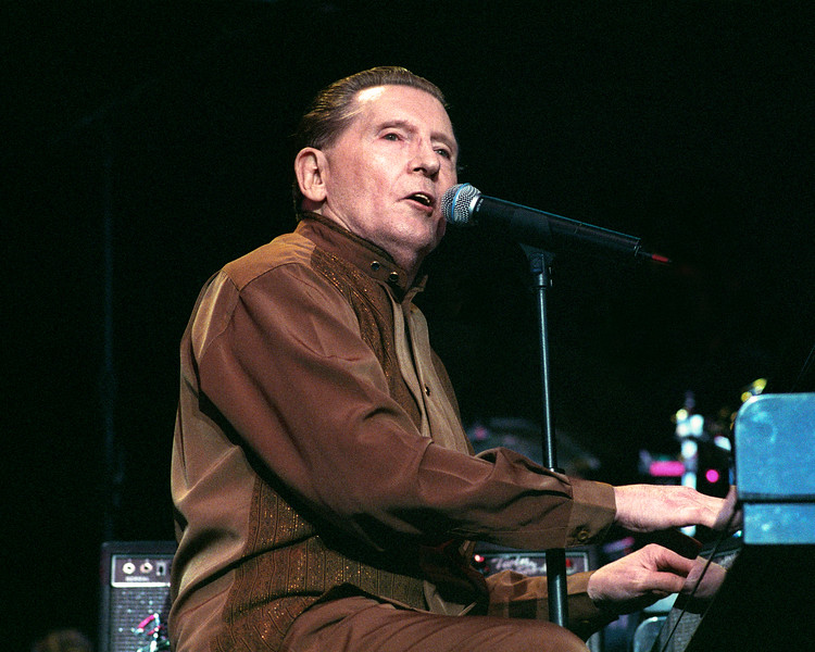 CONCORD, CA-JULY 18: Jerry Lee Lewis performs at the Concord Pavilion in Concord, CA on July 18, 1999. (Photo by Clayton Call/Redferns)