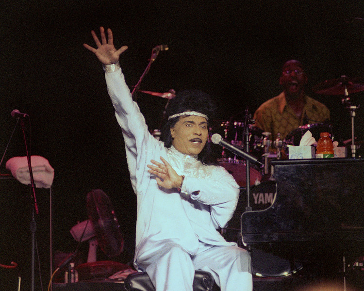 CONCORD, CA-JULY 18: Little Richard performs at the Concord Pavilion in Concord, CA on July 18, 1999. (Photo by Clayton Call/Redferns)