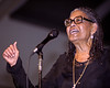 NEW ORLEANS, LA-MAY 5: Abbey Lincoln performs at the New Orleans Jazz & Heritage Festival on May 5, 2002. (Photo by Clayton Call/Redferns)
