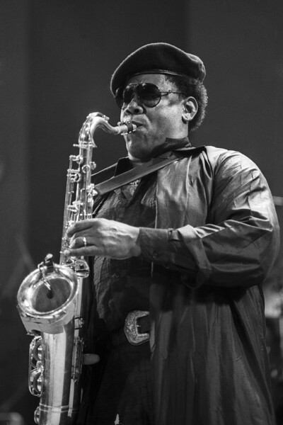 SAN FRANCISCO, CA FEBRUARY 25: Clarence Clemons performs with his band at the Bay Area Music Awards at the San Francisco Civic Center on February 25, 1989. (Photo by Clayton Call/Redferns)