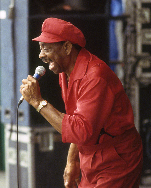 NEW ORLEANS, LA-APRIL 29: Tommy Ridgley performs at the New Orleans Jazz & Heritage Festival on April 29, 1994. (Photo by Clayton Call/Redferns)
