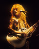 SAN FRANCISCO, CA-DECEMBER 12: Nancy Wilson performs with Heart at the Cow Palace in San Francisco on December 12, 1978. (Photo by Clayton Call/Redferns)
