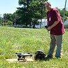 Volunteer, Bob Gutermuth getting his drone ready to search for lost lambs at the former Leominster Landfill.<br /> Sentinel & Enterprise / Jim Fay