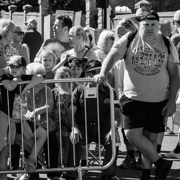 Spectators at Aldeburgh carnival.