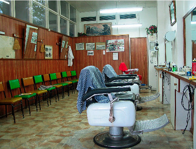 John's Hairdressing Salon, Cowra, Sunday afternoon. June 2003