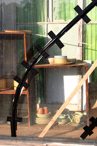 Koorawatha second-hand shop with gaffer tape repairs. May 2004