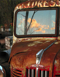 Joe Dresser's old truck, Spring Forest. Sundown. November 2003