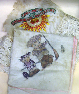 Young museum - silk handkerchiefs sent back from France, 1916. June 2008