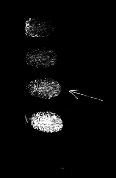 Negative used in Model Master to make the fingerprint pendant.