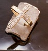 Gold and stones were provided by client to create this cross ring.