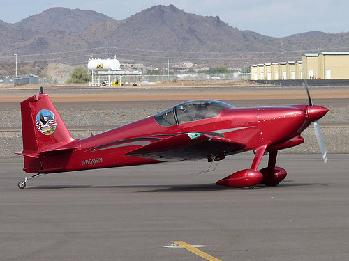 THE AIRCRAFT<br /> <br /> Missing aircraft RV-6 (N650RV), serial number 23971, was built by Mr. Radford in 2009. The aircraft was powered by a Lycoming O-360-A1A 180hp engine. The aircraft was an experimental home-built kit with 2-place seating.<br /> <br /> Based on the antennas visible in the photograph, the aircraft was equipped with two communication radios, a GPS receiver, and an Emergency Locator Transmitter (ELT).<br /> <br /> The aircraft was based at Glendale Airport, but was photographed during 2009 at Deer Valley Airport (KDVT) Arizona.
