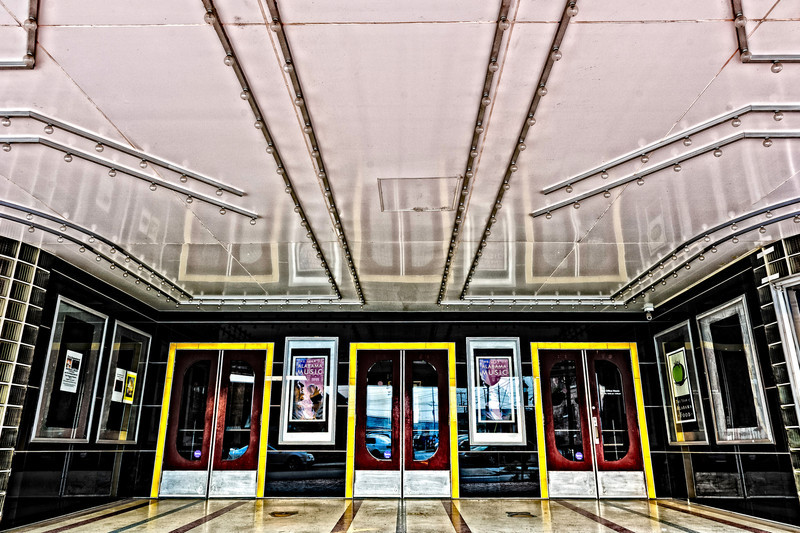 entrance, Princess Theatre in Decatur, AL