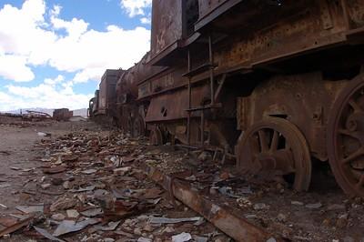 The Salar de Uyuni Train Yard