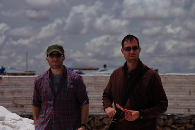 The Salar de Uyuni with Jason and Jeremy