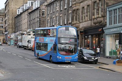 946 has taken up a 61 at Hanover Street, run down to Canonmills and is on her way to Canning Street where a replacement Eclipse awaits.  Ta Anon for the headsup....