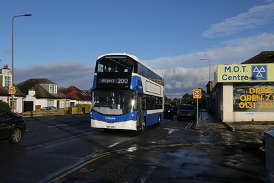 433 still going to the Airport, this time on Telford Road as a 200 rather than the 100 which she operated from new.