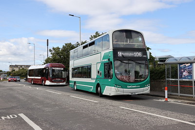 20949 on Crewe Road South on the final day of operation of the 106 to West Granton 11th July 2020