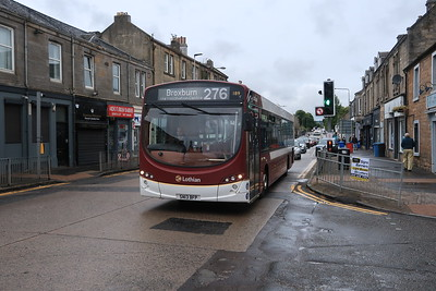 189 nears the end of her 276 route in Broxburn
