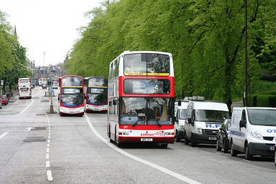 297 was once a demonstrator and was bought second hand by Lothian.   Lothian Road, usual duty on a 4