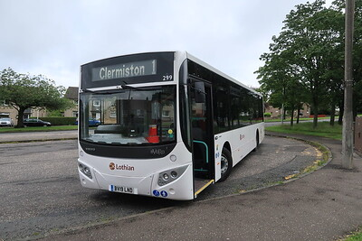 299 Volvo B8RLE Evora at Clermiston terminus