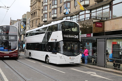 573 started life as a SkyLink vehicle then was loaned to Lothian Country in advance of their Londoner deliveries