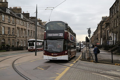 447 on York Place as the 22 is diverted away from Leith Street again