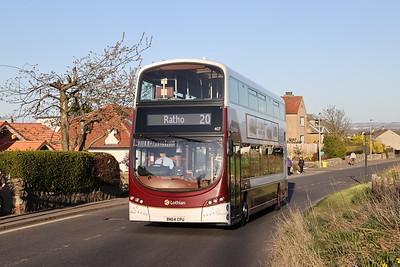 407 heads for Hallcroft Park on Wilkieston Road, Ratho