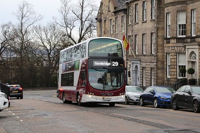 1006 climbs up North Castle Street on the Stockbridge closure diversion route
