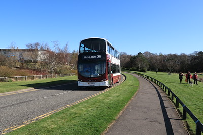 1002 trundles around the Campus at Heriot Watt on Good Friday 2nd April 2021