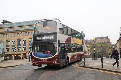 880 heads north on North Castle Street - Stockbridge diversions