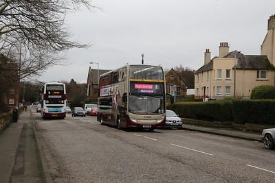 203 climbs West Granton Road on diversion