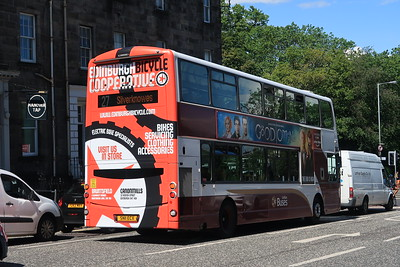 377 SN11 ECX with and ad for the Edinburgh Bicycle Cooperative - spotted this cycling in to work!