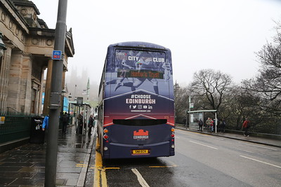 375 with an Edinburgh Rugby mega rear advert