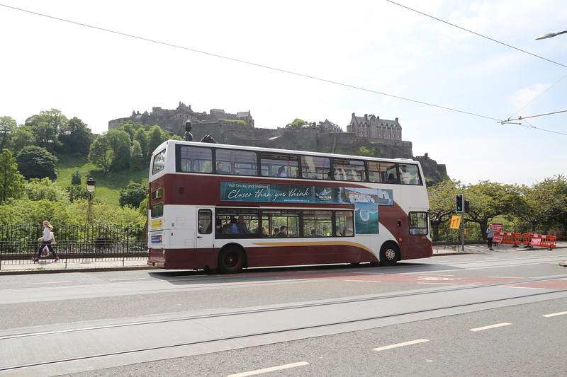 696 passes the (iconic) Edinburgh Castle