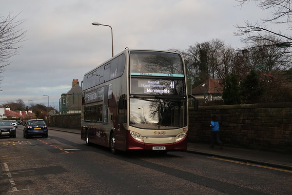 203 on Charterhall Road on the Sunday full route Morningside service (alternates with KB).  Not brilliant, but better than nowt.  If I was keen, I'd get rid of the lamppost....