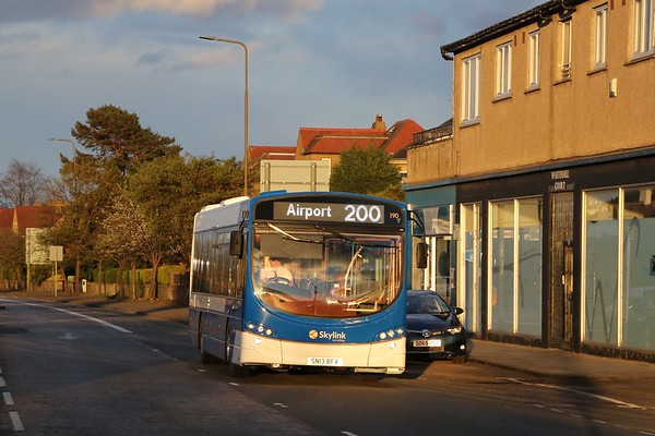 190 catches the late evening sun on Telford Road.   You can't miss the service number...