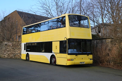The former TB586 in the car park at Edinburgh Zoo