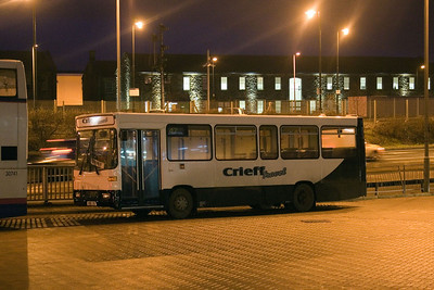 K118CSG seen at Stirling bus station in service with Crieff Travel