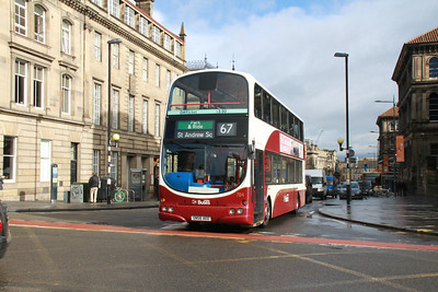 784 has been diverted via Nicholson Square, South Bridge and Chambers Street and is seen here returning to her normal route at George IV Bridge
