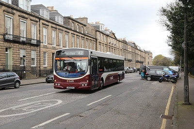 165 diverted via Heriot Row