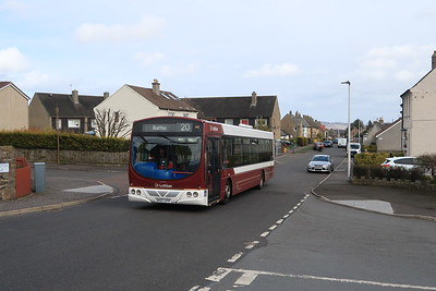 142 heads for the terminus at Hallcroft Park, Ratho