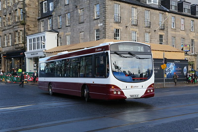 134 in the new revised revision to the updated refresh of the original madder and white.  Possibly.   Maybe add a harlequin or two?   Anyway, not a fan of the titchy white fleet numbers.   Note also the word 'Buses' has been dropped from the logo